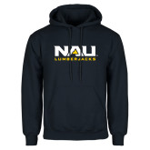 Navy Fleece Hoodie-NAU Lumberjacks Stacked
