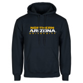 Navy Fleece Hoodie-Northern Arizona University Stacked