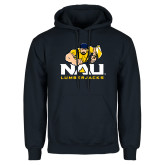 Navy Fleece Hoodie-NAU Lumberjacks with Louie