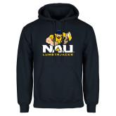 Navy Fleece Hoodie-NAU Lumberjacks with Louie