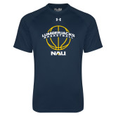 Under Armour Navy Tech Tee-Basketball Ball Design