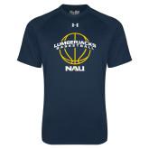 Under Armour Navy Tech Tee-Basketball Ball Design