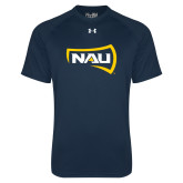 Under Armour Navy Tech Tee-NAU Primary Mark