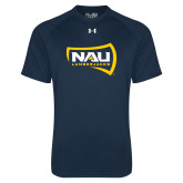 Under Armour Navy Tech Tee-NAU Lumberjacks