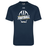 Under Armour Navy Tech Tee-Football Design