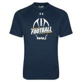 Under Armour Navy Tech Tee-Football Design