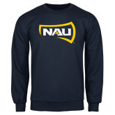 Navy Fleece Crew-NAU Primary Mark