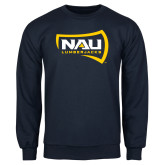 Navy Fleece Crew-NAU Lumberjacks