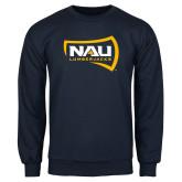 Navy Fleece Crew-NAU Lumberjacks