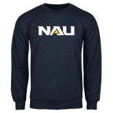 Navy Fleece Crew-NAU