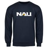 Navy Fleece Crew-NAU