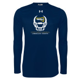 Under Armour Navy Long Sleeve Tech Tee-Football Helmet Design