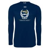 Under Armour Navy Long Sleeve Tech Tee-Football Helmet Design