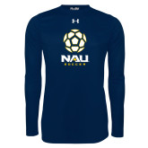 Under Armour Navy Long Sleeve Tech Tee-Soccer Ball Design