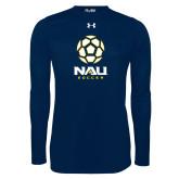 Under Armour Navy Long Sleeve Tech Tee-Soccer Ball Design