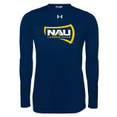 Under Armour Navy Long Sleeve Tech Tee-NAU Lumberjacks