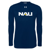 Under Armour Navy Long Sleeve Tech Tee-NAU