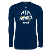 Under Armour Navy Long Sleeve Tech Tee-Football Design