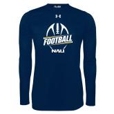 Under Armour Navy Long Sleeve Tech Tee-Football Design