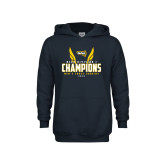 Youth Navy Fleece Hoodie-NCAA Division I Mens Cross Country Champions