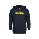 Youth Navy Fleece Hoodie-Northern Arizona University Stacked