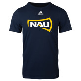 Adidas Navy Logo T Shirt-NAU Primary Mark