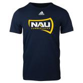 Adidas Navy Logo T Shirt-NAU Lumberjacks