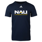 Adidas Navy Logo T Shirt-NAU Lumberjacks Stacked