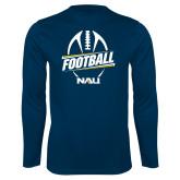 Syntrel Performance Navy Longsleeve Shirt-Football Design