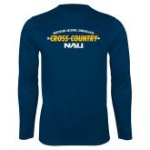 Syntrel Performance Navy Longsleeve Shirt-Cross Country Arrow Design