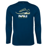Performance Navy Longsleeve Shirt-Cross Country Shoe Design