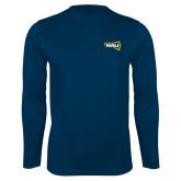 Syntrel Performance Navy Longsleeve Shirt-NAU Primary Mark