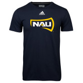 Adidas Climalite Navy Ultimate Performance Tee-NAU Primary Mark