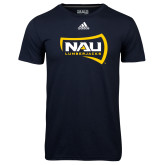 Adidas Climalite Navy Ultimate Performance Tee-NAU Lumberjacks