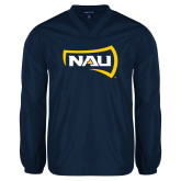 V Neck Navy Raglan Windshirt-NAU Primary Mark