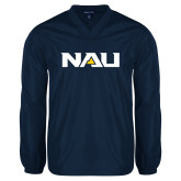 V Neck Navy Raglan Windshirt-NAU