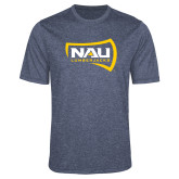 Performance Navy Heather Contender Tee-NAU Lumberjacks