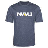 Performance Navy Heather Contender Tee-NAU