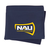 Navy Sweatshirt Blanket-NAU Lumberjacks