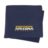 Navy Sweatshirt Blanket-Northern Arizona University Stacked