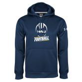 Under Armour Navy Performance Sweats Team Hood-Football Design