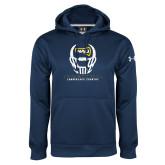 Under Armour Navy Performance Sweats Team Hoodie-Football Helmet Design