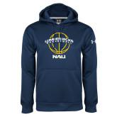 Under Armour Navy Performance Sweats Team Hood-Basketball Ball Design
