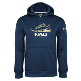 Under Armour Navy Performance Sweats Team Hood-Cross Country Shoe Design