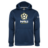 Under Armour Navy Performance Sweats Team Hoodie-Soccer Ball Design