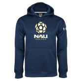 Under Armour Navy Performance Sweats Team Hood-Soccer Ball Design