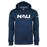 Under Armour Navy Performance Sweats Team Hood-NAU