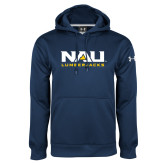 Under Armour Navy Performance Sweats Team Hoodie-NAU Lumberjacks Stacked