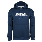 Under Armour Navy Performance Sweats Team Hoodie-Northern Arizona University Stacked
