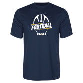 Performance Navy Tee-Football Design